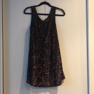 Mink pink crushed velvet dress.